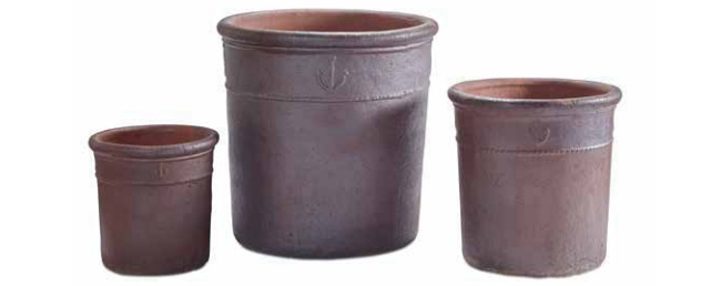 Rustic Ornamental Plant Pot Set